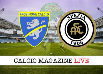 Frosinone Spezia cronaca diretta live risultato in tempo reale