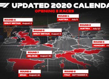 Il 5 luglio riparte la Formula 1: il comunicato ufficiale
