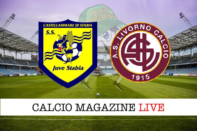 Juve Stabia Livorno cronaca diretta live risultato in tempo reale