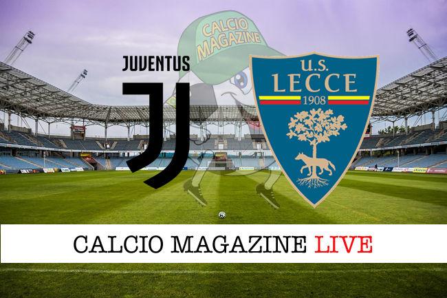 Juventus Lecce cronaca diretta live risultato in tempo reale