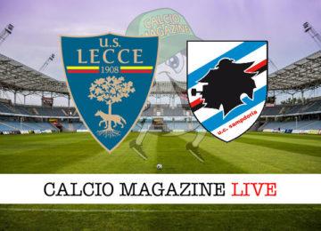 Lecce Sampdoria cronaca diretta live risultato in tempo reale