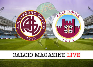 Livorno Cittadella cronaca diretta live risultato in tempo reale
