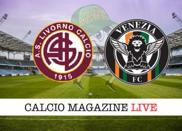 Livorno Venezia cronaca diretta live risultato in tempo reale