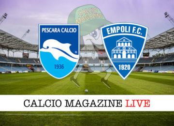 Pescara Empoli cronaca diretta live risultato in tempo reale