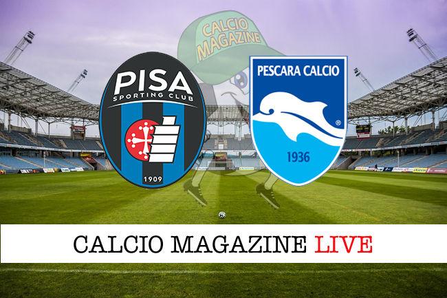 Pisa Pescara cronaca diretta live risultato in tempo reale
