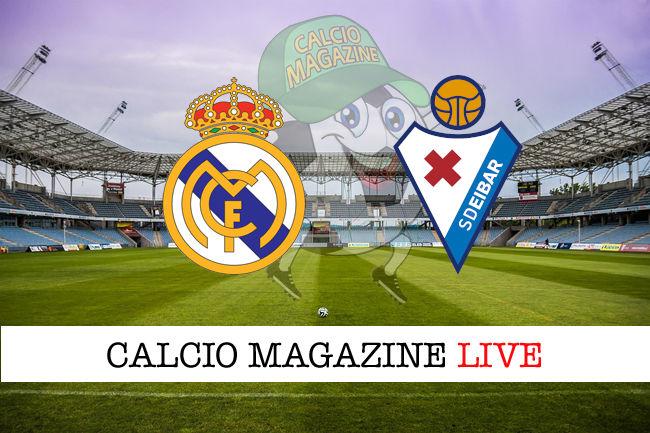 Real Madrid Eibar cronaca diretta live risultato in tempo reale