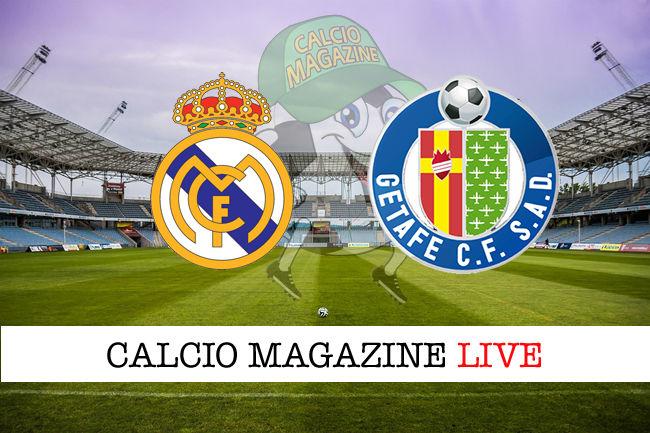Real Madrid Getafe cronaca diretta live risultato in tempo reale