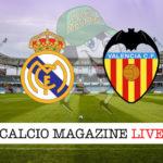 Real Madrid Valencia cronaca diretta live risultato in tempo reale