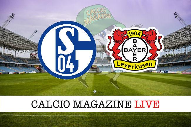 Schalke 04 Bayer Leverkusen cronaca diretta live risultato in tempo reale