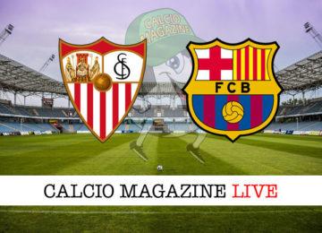 Siviglia Barcellona cronaca diretta live risultato in tempo reale
