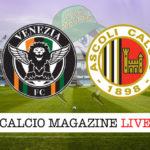 Venezia Ascoli cronaca diretta live risultato in tempo reale