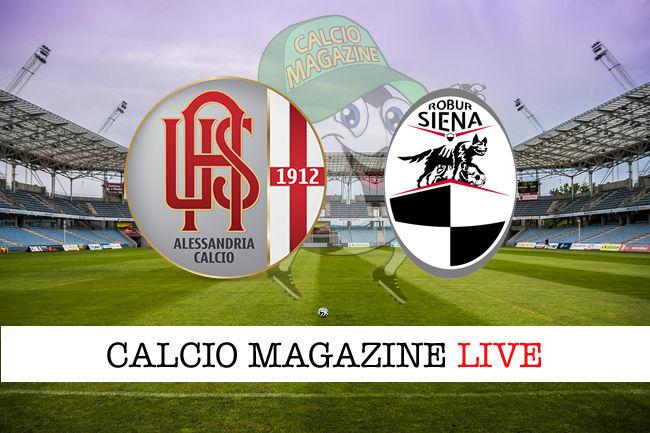 Alessandria Siena cronaca diretta live risultato in tempo reale