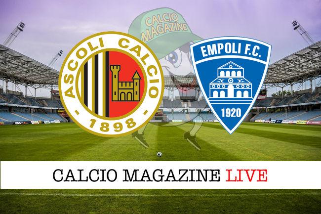 Ascoli Empoli cronaca diretta live risultato in tempo reale