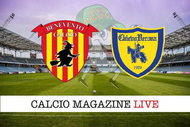 Benevento Chievo cronaca diretta live risultato in tempo reale