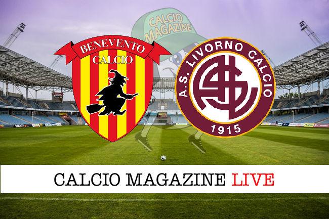 Benevento Livorno cronaca diretta live risultato in tempo reale