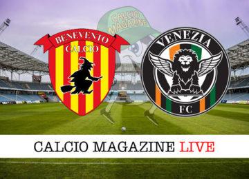 Benevento Venezia cronaca diretta live risultato in tempo reale