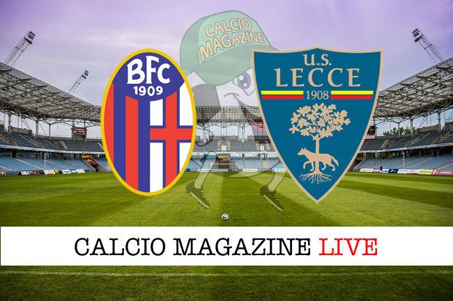 Bologna Lecce cronaca diretta live risultato in tempo reale