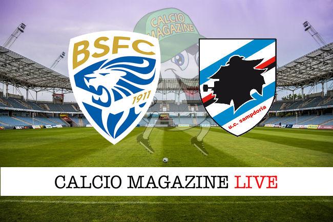Brescia Sampdoria cronaca diretta live risultato in tempo reale