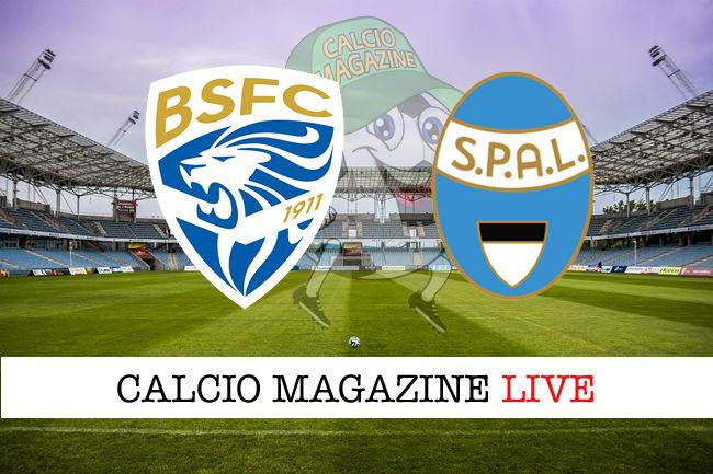 Brescia Spal cronaca diretta live risultato in tempo reale