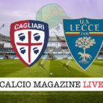 Cagliari Lecce cronaca diretta live risultato in tempo reale
