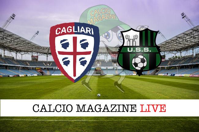 Cagliari Sassuolo cronaca diretta live risultato in tempo reale