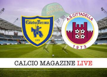 Chievo Cittadella cronaca diretta live risultato in tempo reale