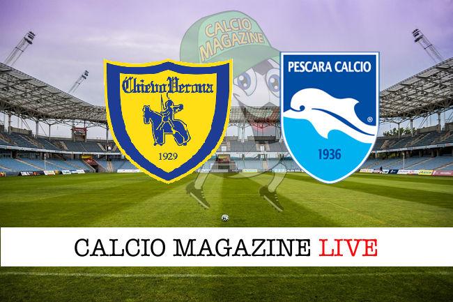 Chievo Pescara cronaca diretta live risultato in tempo reale