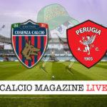 Cosenza Perugia cronaca diretta live risultato in tempo reale