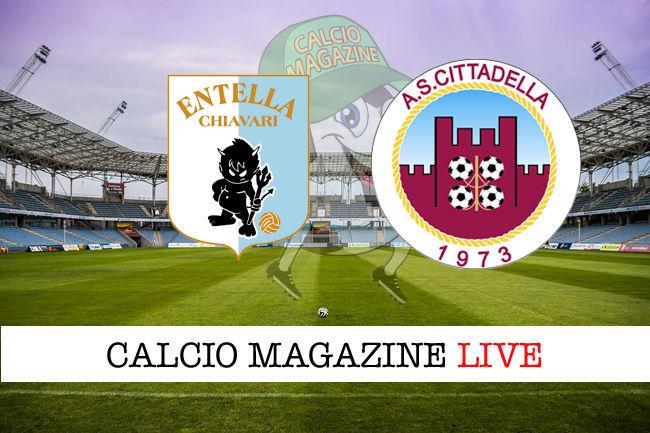 Virtus Entella Cittadella cronaca diretta live risultato in tempo reale