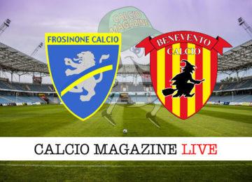 Frosinone Benevento cronaca diretta live risultato in tempo reale