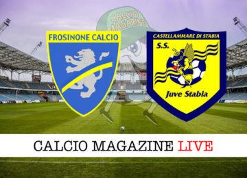 Frosinone Juve Stabia cronaca diretta live risultato in tempo reale