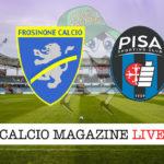 Frosinone Pisa cronaca diretta live risultato in tempo reale