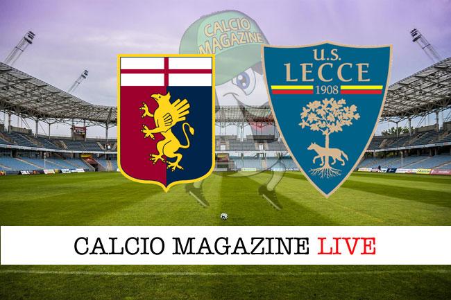 Genoa Lecce cronaca diretta live risultato in tempo reale