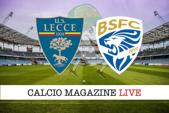 Lecce Brescia cronaca diretta live risultati in tempo reale