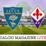 Lecce Fiorentina cronaca diretta live risultato in tempo reale
