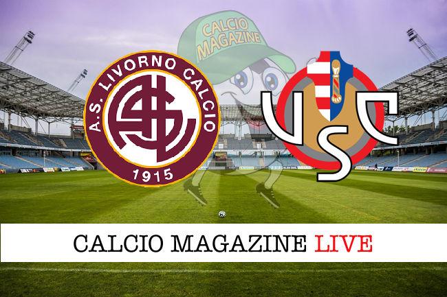 Livorno Cremonese cronaca diretta live risultato in tempo reale