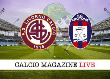 Livorno Crotone cronaca diretta live risultato in tempo reale