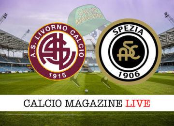 Livorno Spezia cronaca diretta live risultato in tempo reale