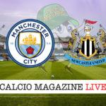 Manchester City Newcastle cronaca diretta live risultato in tempo reale