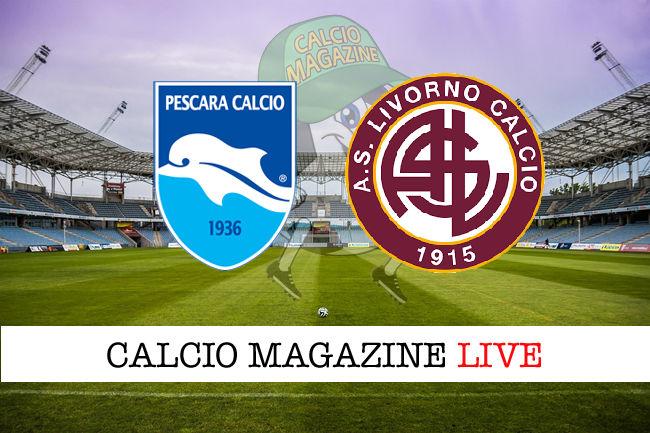 Pescara Livorno cronaca diretta live risultato in tempo reale