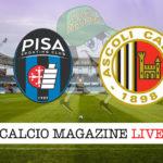 Pisa Ascoli cronaca diretta live risultato in tempo reale
