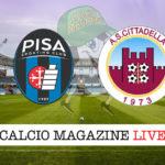 Pisa Cittadella cronaca diretta live risultato in tempo reale