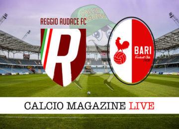 Reggio Audace Bari cronaca diretta live risultati in tempo reale