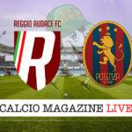 Reggio Audace Potenza cronaca diretta live risultato in tempo reale