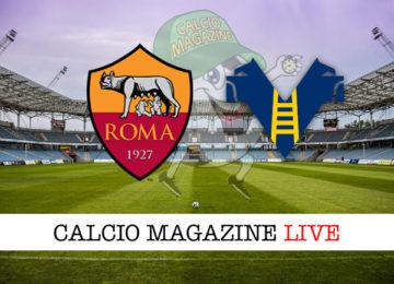 Roma Hellas Verona cronaca diretta live risultato in tempo reale