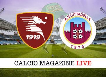 Salernitana Cittadella cronaca diretta live risultato in tempo reale