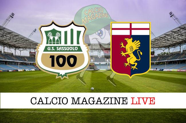 Sassuolo Genoa cronaca diretta live risultato in tempo reale