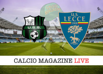 Sassuolo Lecce cronaca diretta live risultato in tempo reale