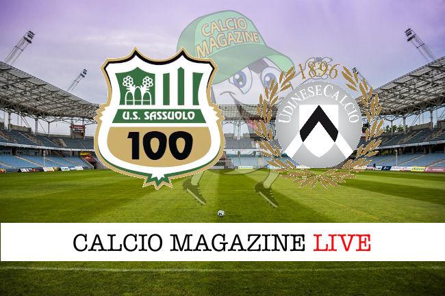 Sassuolo Udinese cronaca diretta live risultato in tempo reale