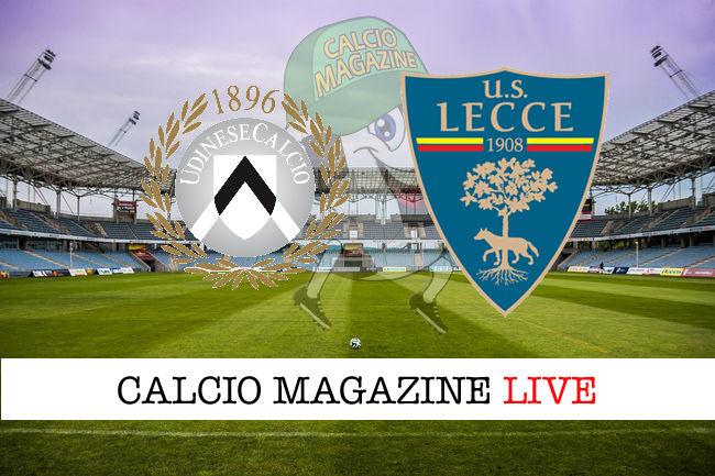 Udinese Lecce cronaca diretta live risultato in tempo reale